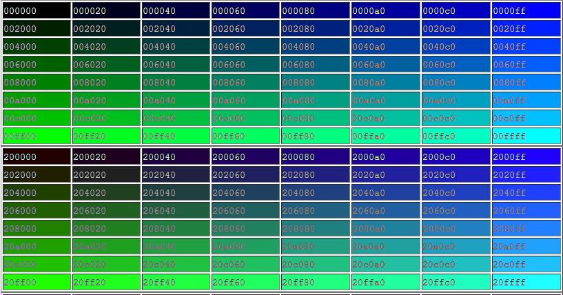 Html цветы коды